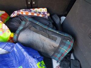 Blanket school run car