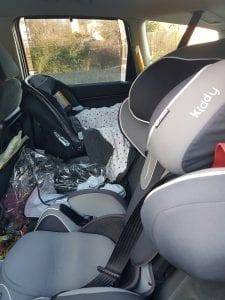 Car seats school run car