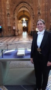 The first woman in history to lead the Speakers procession along side the Representation of the People Act 1918, displayed in Central Lobby for today!