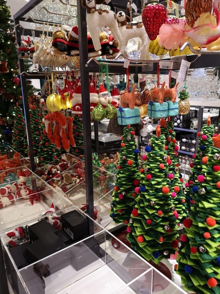 John Lewis Christmas shop, Christmas trees, Christmas decorations