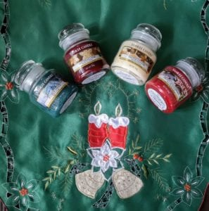 Yankee candles, festive, christmas
