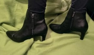 clarks ankle boots, ankle boots, tassle, zip up boots