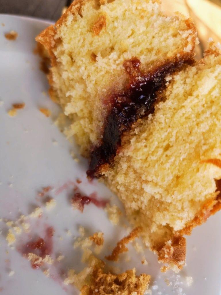 National Trust cake - victoria sponge at Ightham Mote