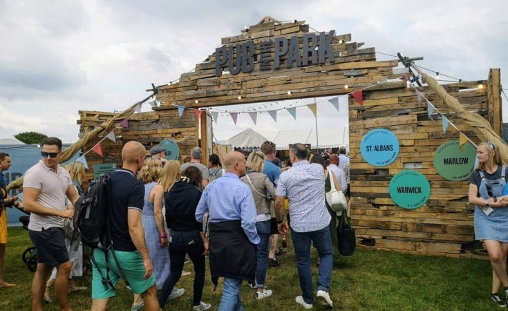 pub in the park, festival, gastropub, tom kerridge, live music, local produce