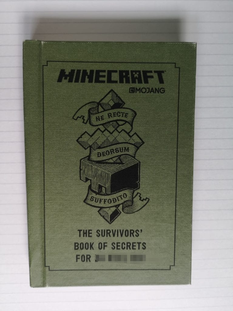minecraft, personalised book, mojang,