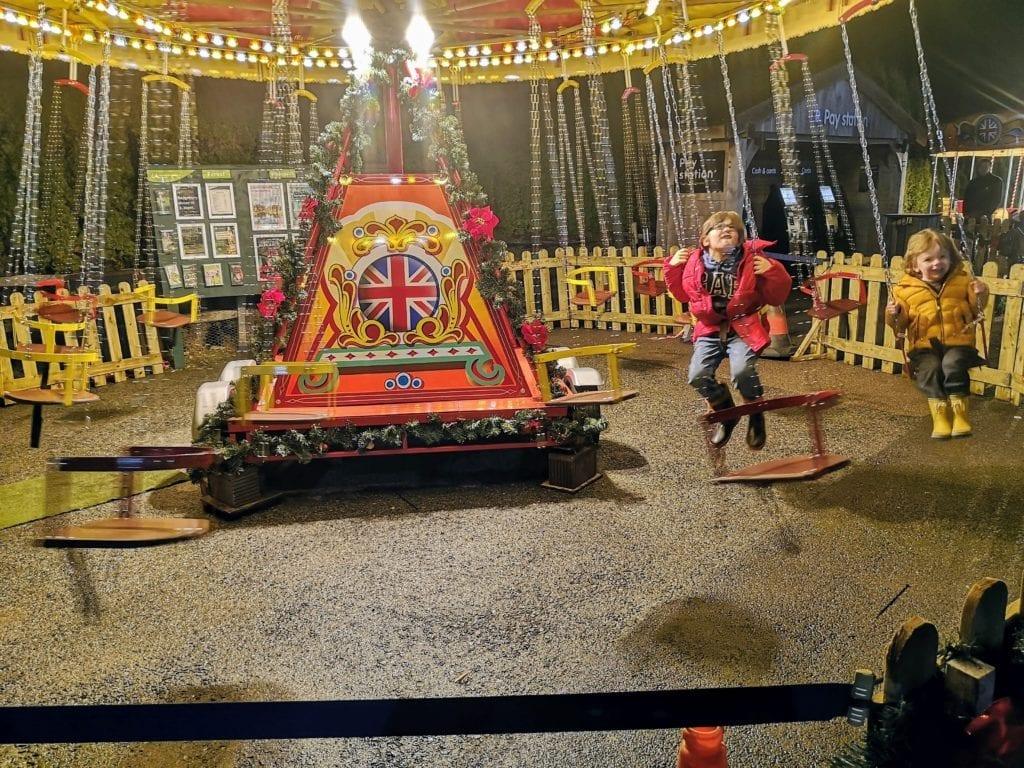 fun fair at The Christmas Lights at Bedgebury Pinetum
