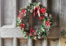 Scotney Castle, National Trust, Christmas, Wreath