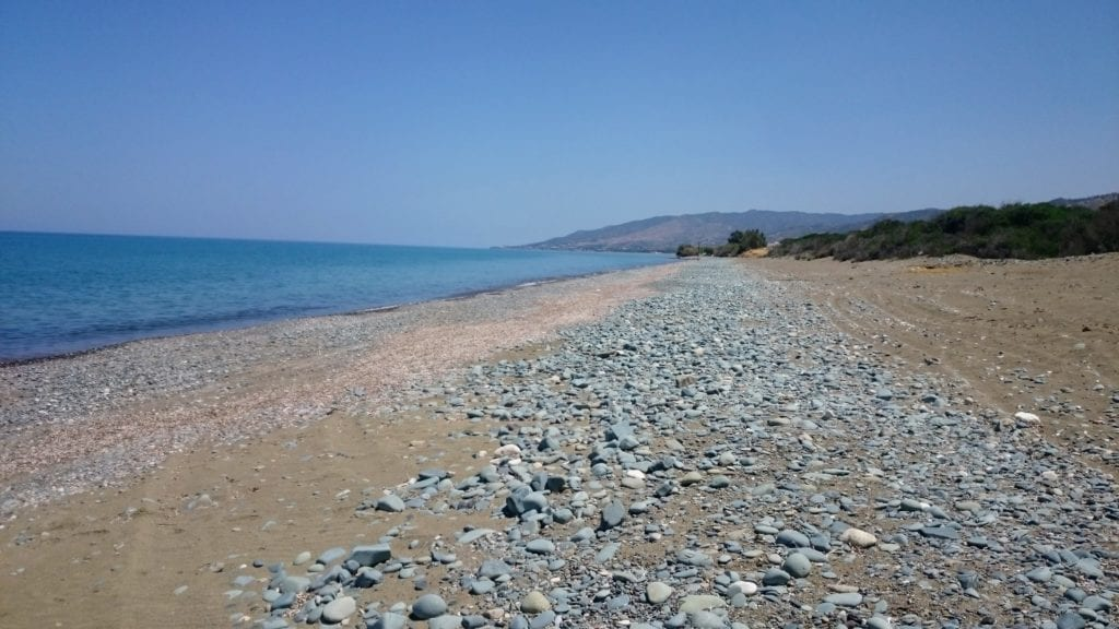 Deserted Cypriot Beach near Argaka