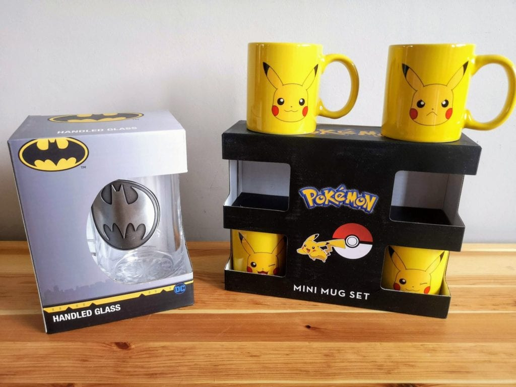 Valentines gift ideas, batman, pikachu, nintendo, dc comics, mugs, tankard