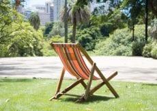 deckchair on grass