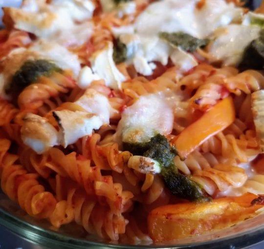 goats cheese al forno, prezzo, restaurant, pasta al forno, penne, goats cheese pasta dish