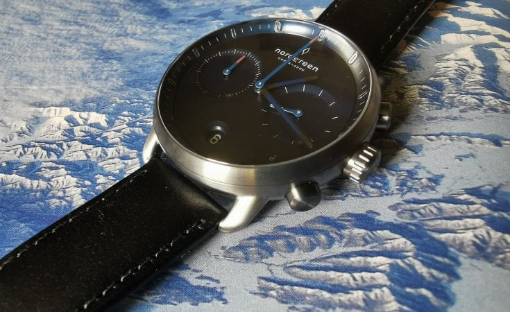 Nordgreen Pioneer Men's Watch - a stylish men's watch with a navy dial, black leather strap and gun metal (grey) case