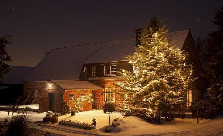 house at christmas
