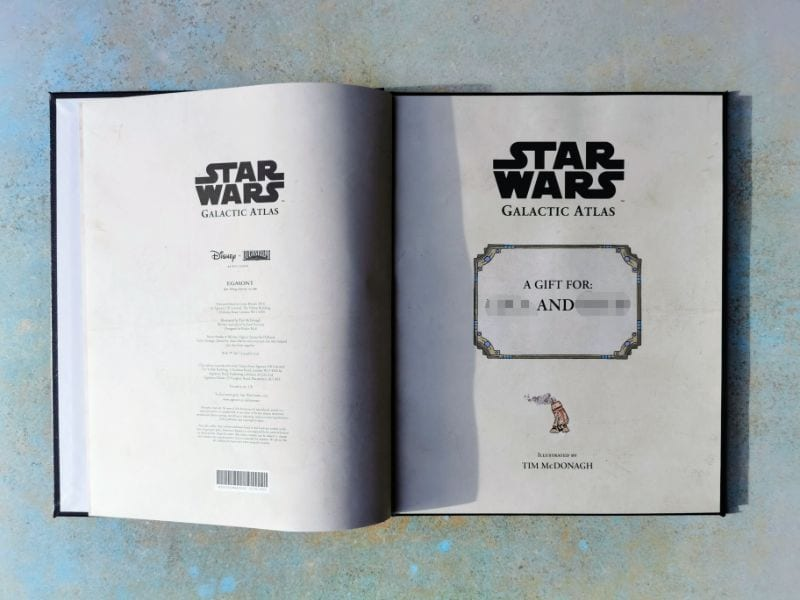 Inside cover of Star Wars Galactic Atlas from In the Book