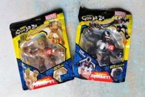 Marvel Heroes of Goo Jit Zo - Groot & Venom in their bags